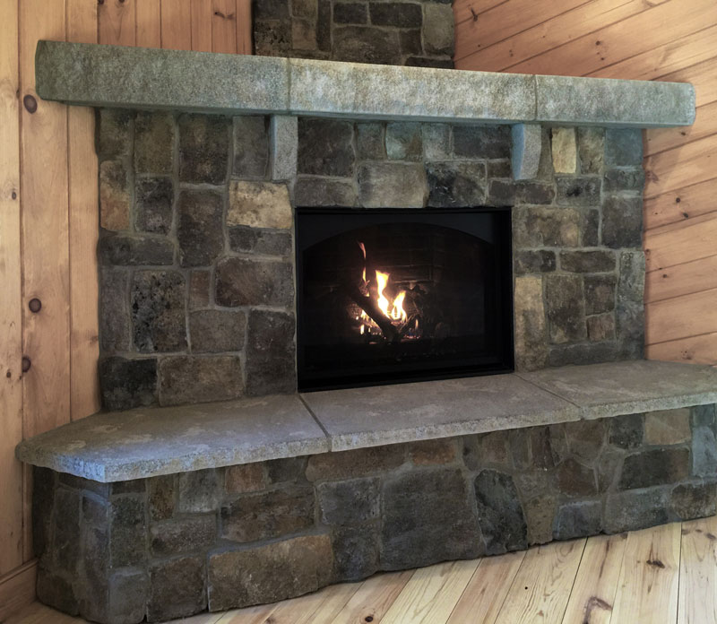 The Acadia Fireplace New England Veneer Stone