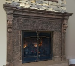 New Fireplace Mantel on display at the HPBExpo in New Orleans