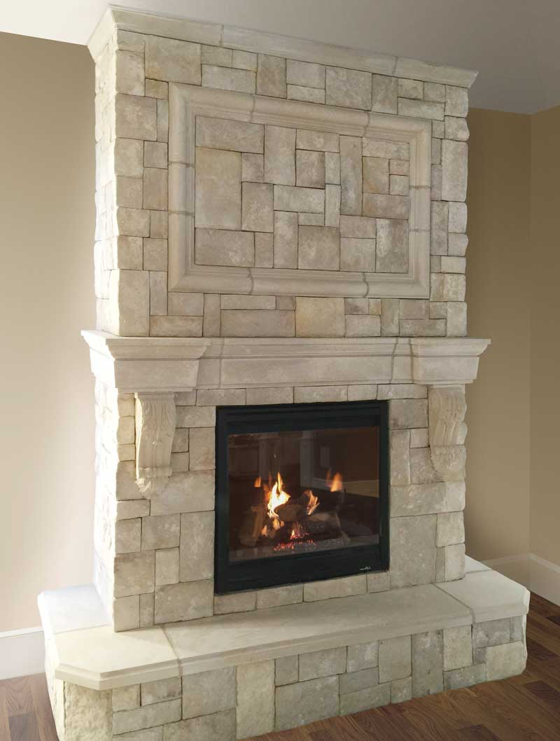 Cast Fireplace Mantels Integrate With Veneer Stone New