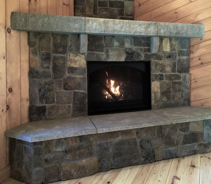 Acadia Rustic Fireplace Mantel