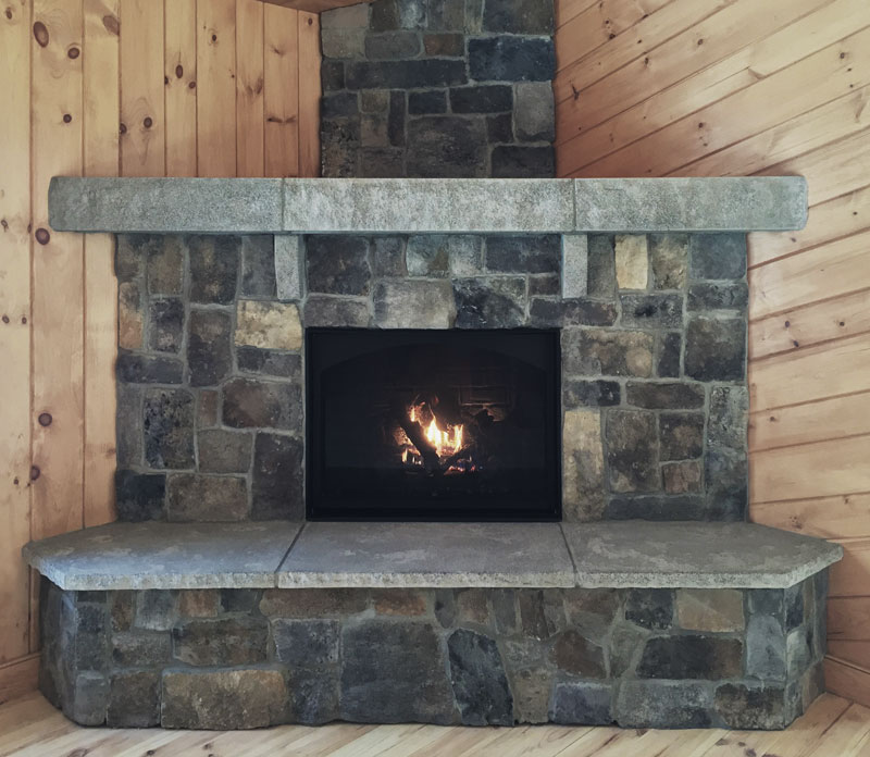 Acadia Rustic Fireplace Mantel - front view