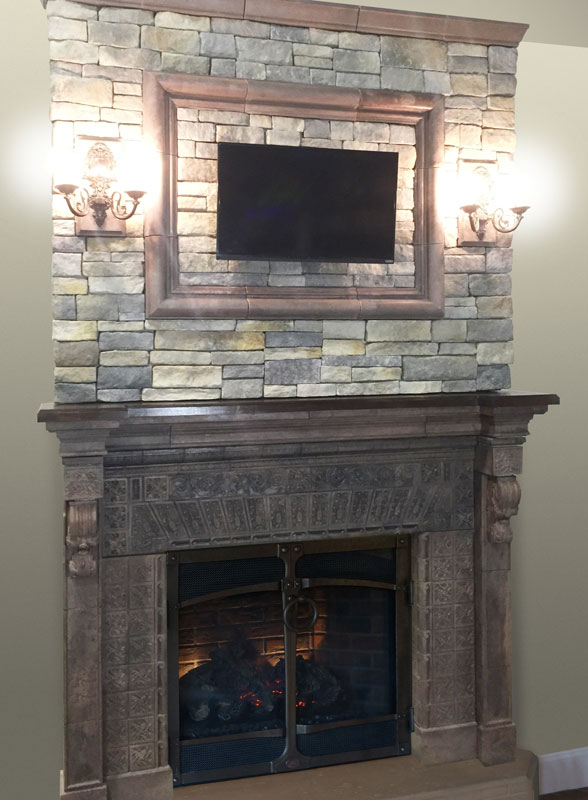 Cape Ned W Overmantel Web The Fireplace Mantel With New England Veneer Stone In Ledgestone Cornerstone Architectural